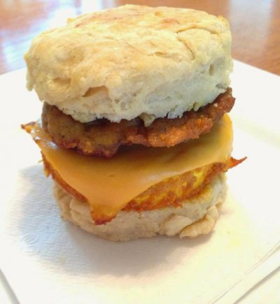 Biscuit with Egg, Sausage & Cheese