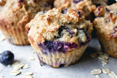 Muffins, Reduced Fat Blueberry