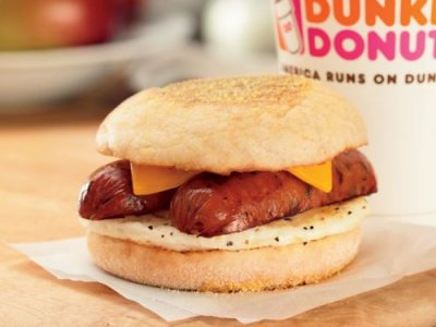 Grilled Breakfast Sandwich With Sausage