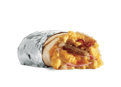 Ham Egg & Cheese Burrito