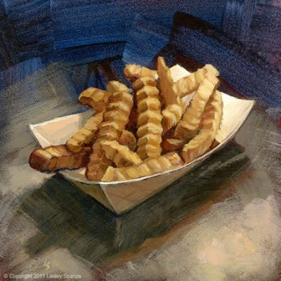 Crinkle-Cut Fries, medium