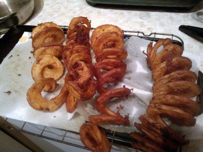Seasoned Curly Fries, Large