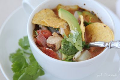 Family Size Chicken Tortilla Soup