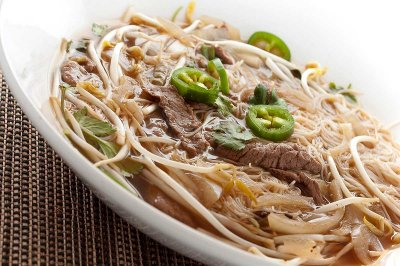 Beef Steak & Noodle Soup