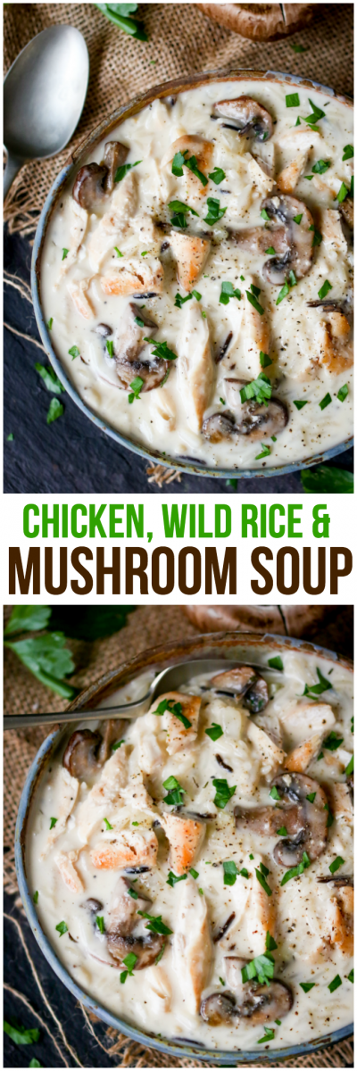 Chicken With White & Wild Rice Soup