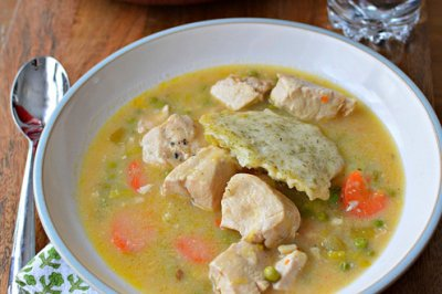 Family Size Chicken and Dumplings