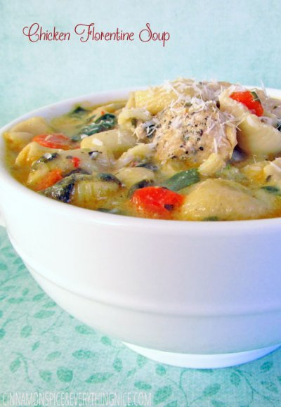 Chicken Florentine Soup,  Small