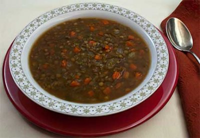 Curried Rice and Lentil Soup, Large