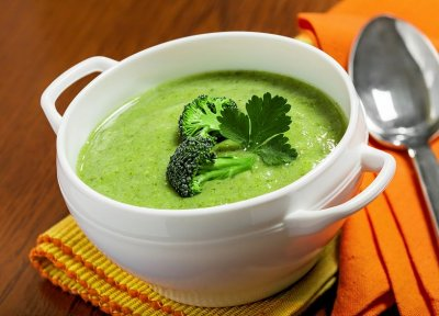 Broccoli Cheese Soup, Bowl