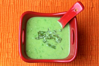 Asparagus & Pea Soup, Medium