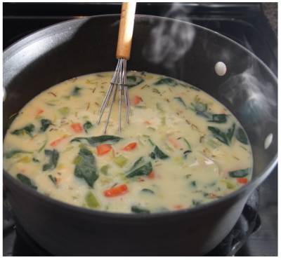 Chicken Florentine Soup,  Large