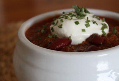 Timberline Chili with beans, Bowl