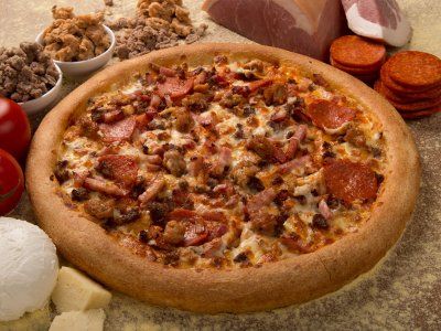 All Meaty Pizza, Large Thin Crust