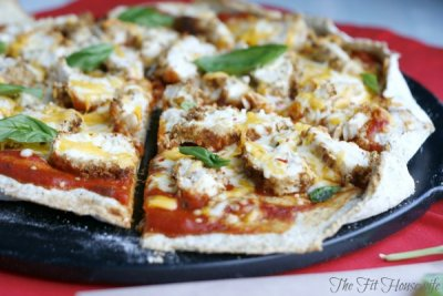 Chicken Parmesan Pizza, Small Thin Crust
