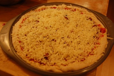 One Topping Large Thin Crust Pizza (cheese)
