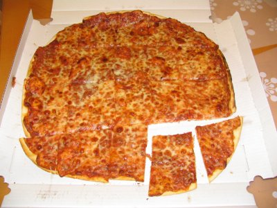 Pizza, Thin Crust Cheese, Large, 1 Slice