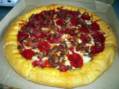 Large Size Stuffed Pizza- 5 Meat