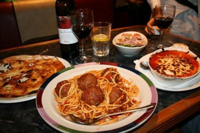 Penne Marinara with Meatballs - Family Style