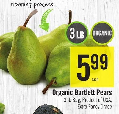 Organic, Pear, Retailer Assigned