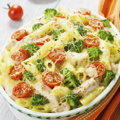 Chicken Broccoli Penne Bake