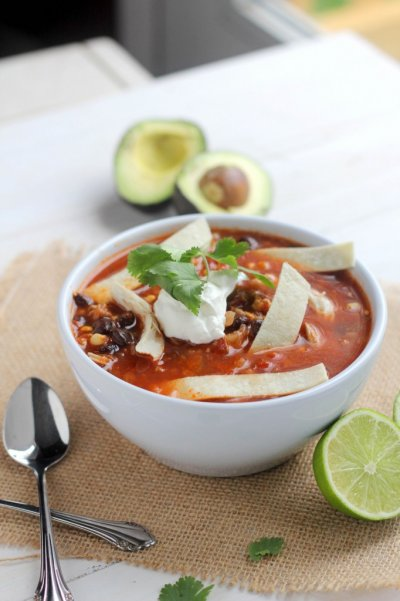 Chicken Tortilla Soup (kids)
