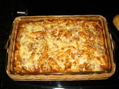 Three Cheese Baked Ravioli