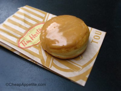 Canadian Maple Filled Donut