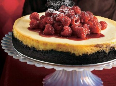 Premium White Chocolate Raspberry Cheesecake