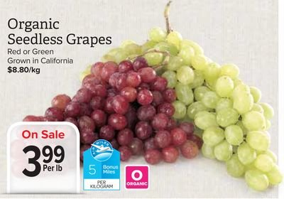 Organic, Grapes, Retailer Assigned