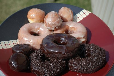 Chocolate Glazed Cake Donut