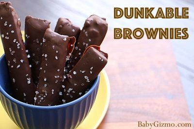 Fudge Dipped Brownie on a Stick