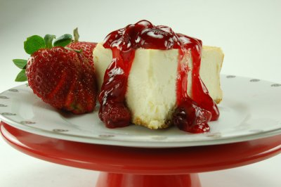 NY Style Cheesecake with Strawberry