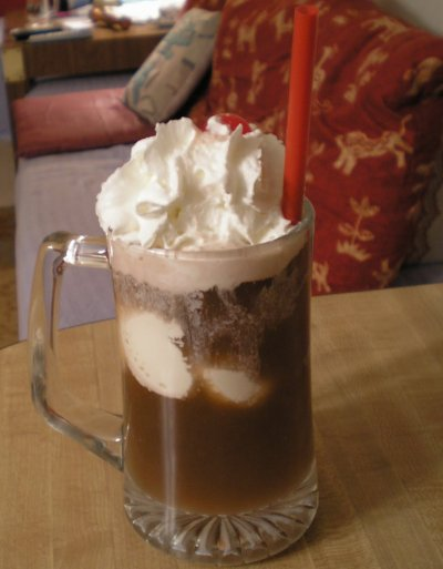 Ice Cream Soda Float-Vanilla Ice Cream and Soda Water Regular