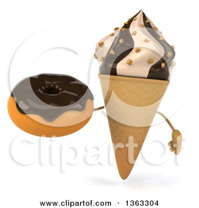 Small Waffle Cone with Chocolate