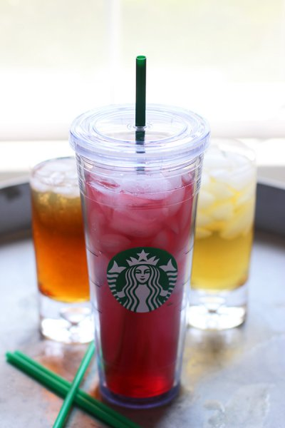 Teavana Shaken Iced Black Tea Lemonade, Unsweetened (Tall)