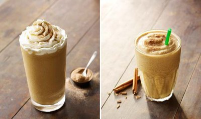 Cinnamon Dolce Light Frappuccino Blended Coffee, Nonfat Milk (Mini)