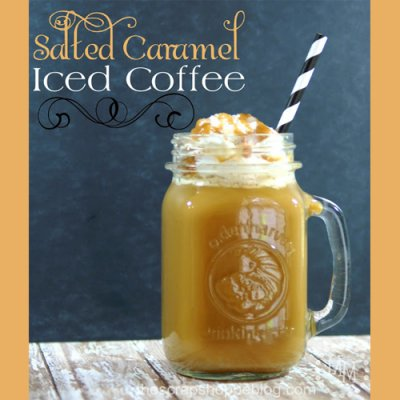 Caramel Iced Coffee with Cream, Small