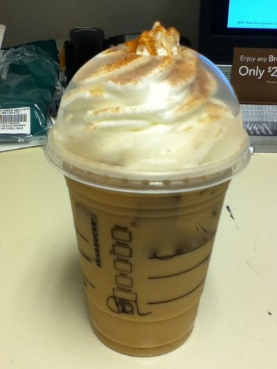 Cinnamon Dolce Frappuccino Blended Coffee, Whole Milk (Tall)