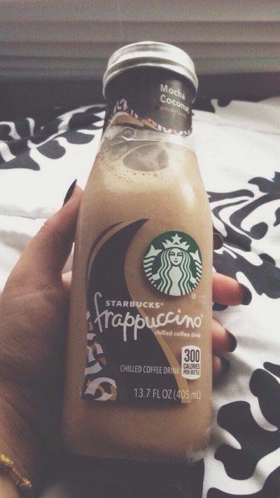 Starbucks Bottled Mocha Coconut Frappuccino Coffee Drink Bottle
