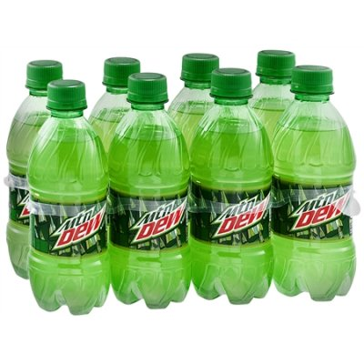 12 oz Mountain Dew (without ice)