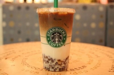 White Chocolate Mocha Frappuccino Blended Coffee, Soy Milk (Tall)