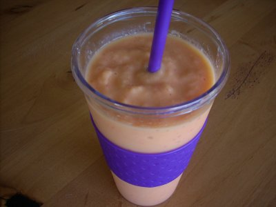 Orange Light Fruit Smoothie, Large