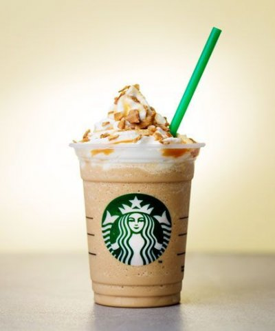 Caramel Waffle Cone Frappuccino Blended Beverage, 2% Milk (Grande)