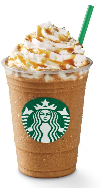 Caramel Frappucino Blended Coffee, 2% Milk (Grande)