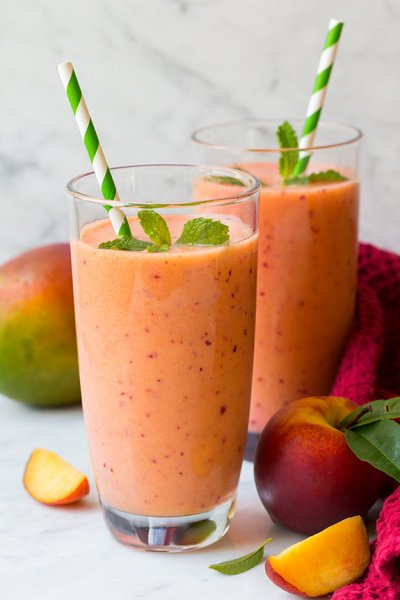 Peach Mango Yogurt Smoothie