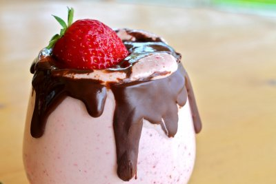 Chocolate Covered Strawberry Milk Shake-Kids