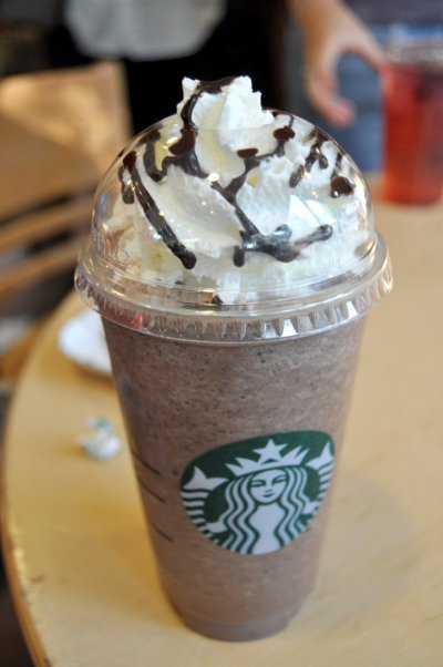 Java Chip Frappuccino Blended Coffee, Soy Milk (Venti)