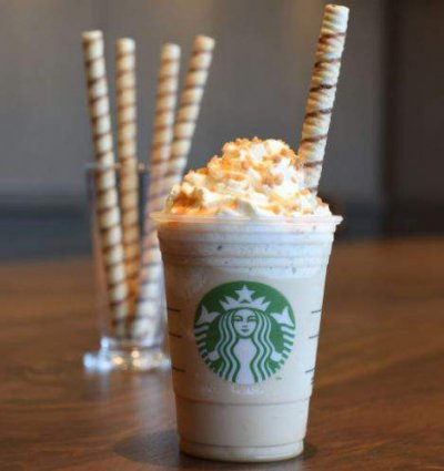 S'mores Frappuccino Blended Coffee, Nonfat Milk (Grande) w/ Marshmallow-inflused Whipped Cream