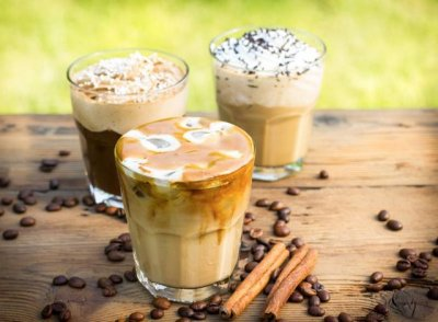 Frozen Caramel Coffee Coolatta with Cream, Medium