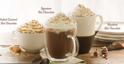 Hot Cocoa, 16 oz (made with chocolate sauce and whole milk ...